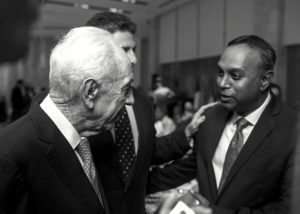 AnandSamy_Shimon Peres_Black and White Print_Jerusalem Leaders Summit_Israel